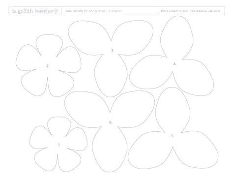 crepe paper template гардения 1 flower templates gardenias
