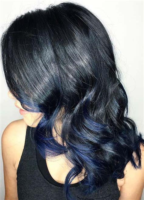 midnight black color midnight blue hair color on black hair www imgkid