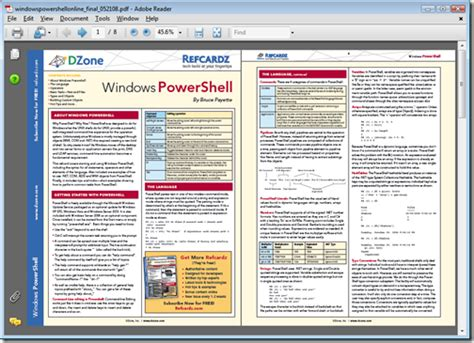 reference card template new free regware powershell 8 page reference card greg