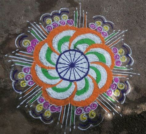 rangoli themes for republic day independence day and republic day kolam designs rangoli