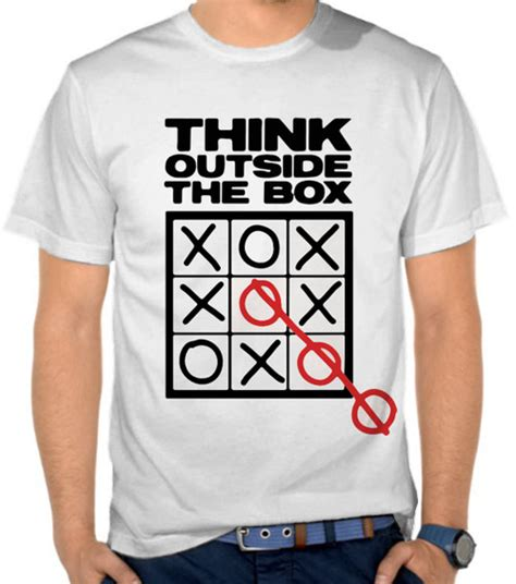 Kaos Cowok Think Outside jual kaos think outside the box casual lifestyle satubaju