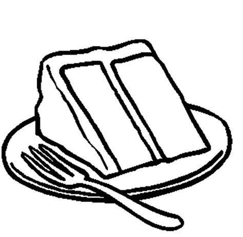 coloring pages of a piece of cake serving delicious cake coloring pages serving delicious