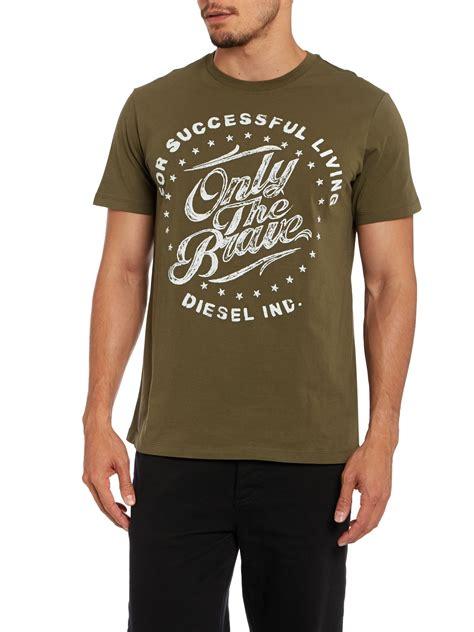 T Shirt Brave Diesel Fth diesel t balder only the brave circular logo t shirt in