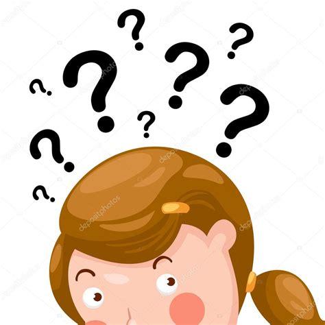 imagenes niños pensando animadas ni 241 o pensando con signos de interrogaci 243 n el vector