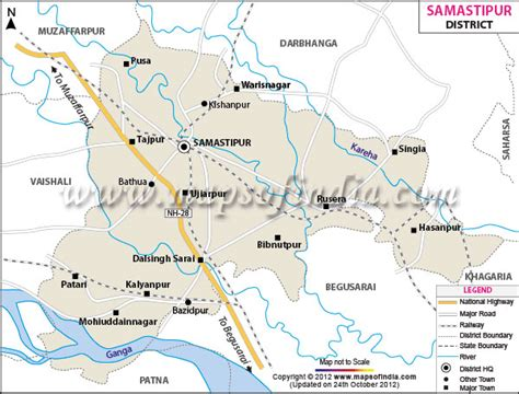 map of begusarai district samastipur district map