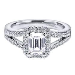emerald cut engagement rings emerald cut halo
