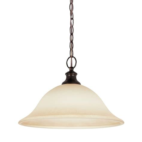 Cafe Pendant Light Sea Gull Lighting Park West 1 Light Burnt Pendant With Cafe Tint Glass 65496 710 The