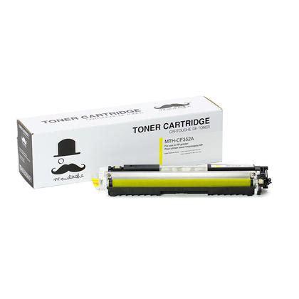 Toner Hp Cf352a Yellow Toner Catridge 130a Hp 130a Compatible Yellow Toner Cartridge Moustache