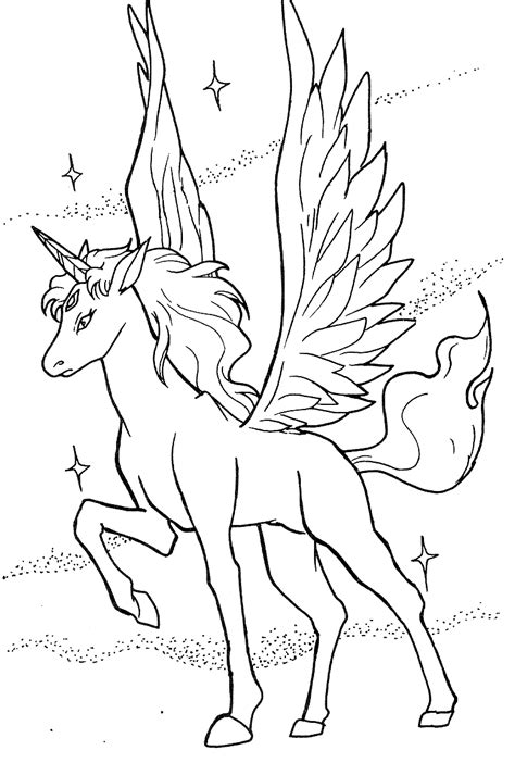 coloring pages of unicorns and pegasus free baby pegasus unicorn coloring pages