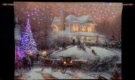 thomas kinkade lighted pictures pin thomas kinkade victorian christmas ii wallpaper
