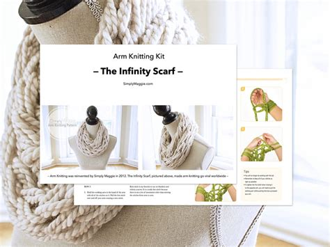 arm knitting infinity scarf pattern arm knitting kit the infinity scarf by simply maggie