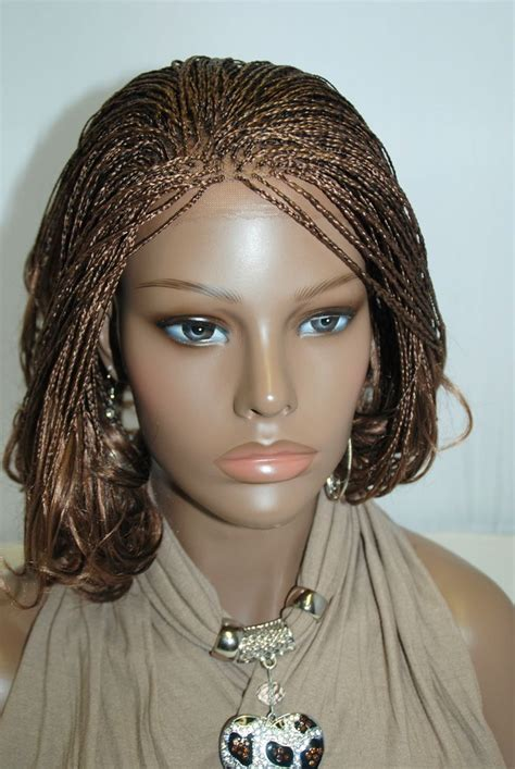ghanaians wig styles fully hand braided lace front wig micro braids color 27