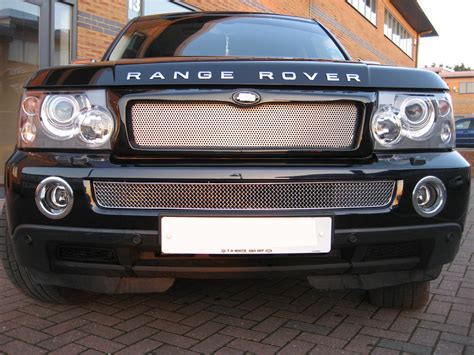 chrome range rover chrome bentley style lower mesh grille for range rover