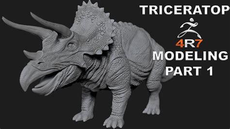 zbrush dinosaur tutorial modeling triceratops dinosaur tutorial in zbrush 4r7