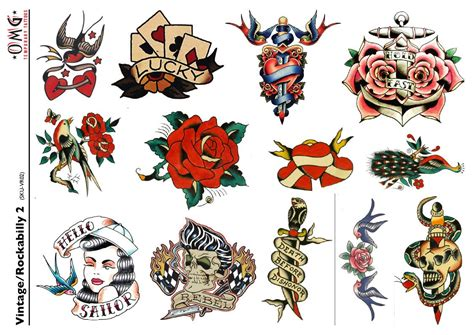 vintage style tattoos temporary tattoos vintage and rockabilly 2 omg temporary