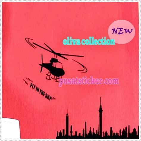Helicopter Bola Terbang Murah wall sticker helikopter wall sticker murah se jakarta