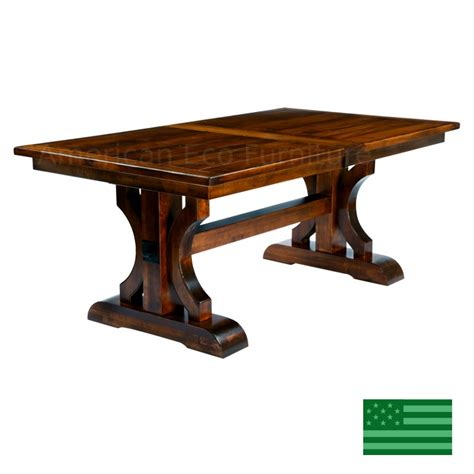 dining room tables made in usa amish solid wood heirloom furniture made in usa brea trestle dining table american eco