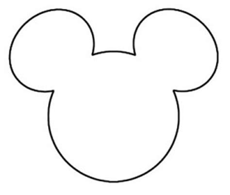 8 best images of printable mickey head template mickey
