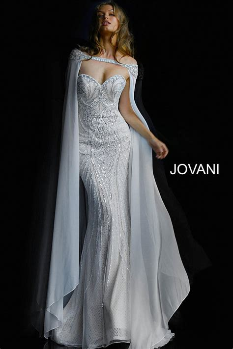Ivory The Shoulder Dress by Ivory Fitted Beaded Strapless Wedding Dress With Cape