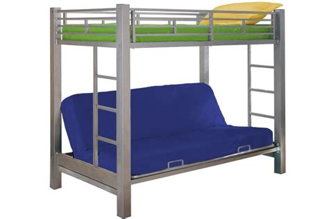 childrens bunk bed with futon kids metal futon bunk bed roboto silver the futon shop