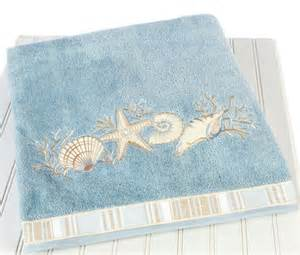 seashell bath towels decorate a bathroom bathroom decorating