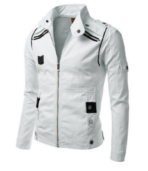 white leather motorcycle jacket white jackets for men fit jacket