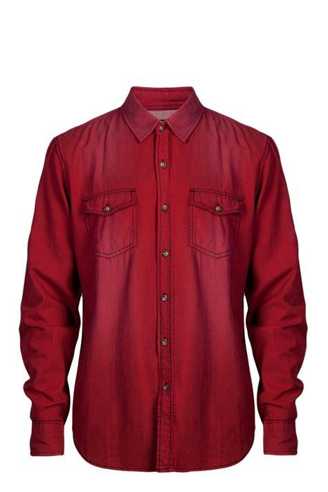 Denim Inc Shirt Maroon by Mens Denim Shirt Is Shirt