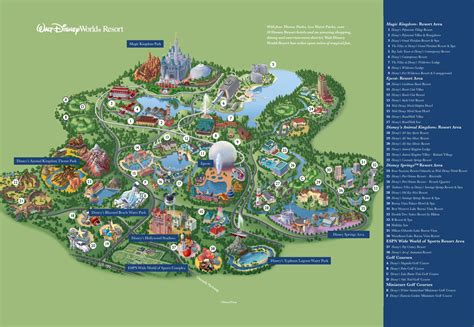 disney world orlando map with hotels orlando walt disney world resort map
