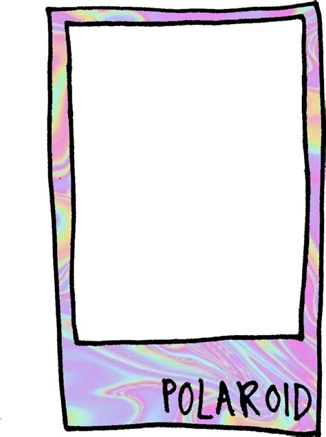 imagenes png tumblr chanel holographic polaroid frame aesthetic tumblr