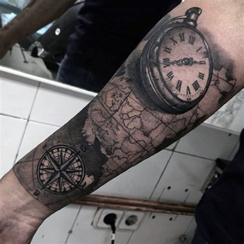 tattoo compass unterarm 200 popular pocket watch tattoo and meanings 2017