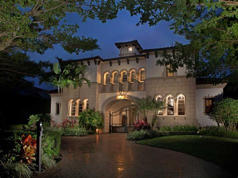 Spanish Mediterranean Style Homes 14 000 square foot naples mansion with magnificent gated