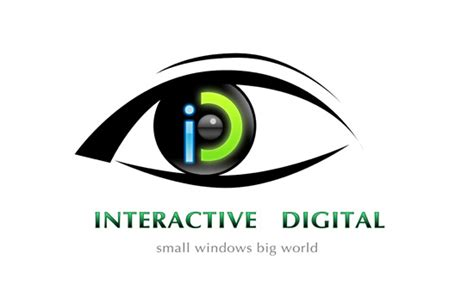 iteractive digita eyewear logo graphic design