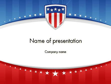 Patriotic Background Powerpoint Template Backgrounds 11971 Poweredtemplate Com Patriotic Powerpoint Templates Free