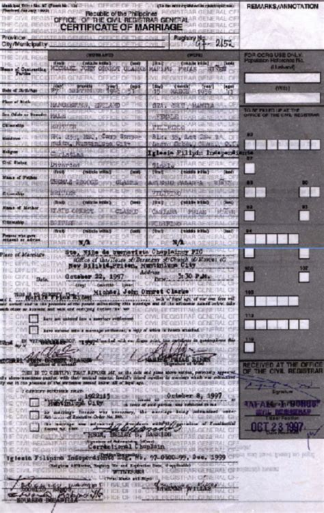 Marriage Records Philippines Certificate Form Philippines Sle Image