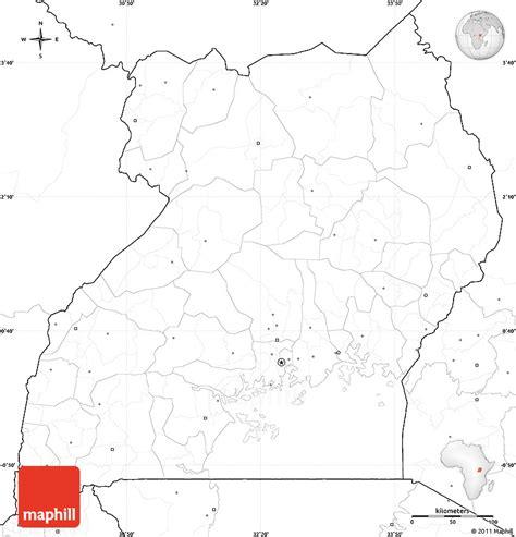 uganda map coloring page blank simple map of uganda no labels