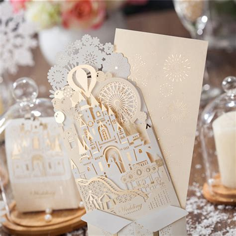 3d wedding card template 10 pieces lot wishmade wedding decoration 3d castle