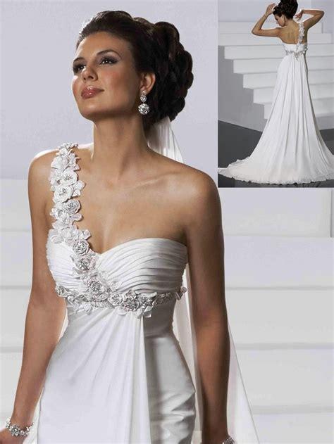 Wedding Hair Dress With Straps by Wedding Hair One Shoulder Dress Wedding Hair One