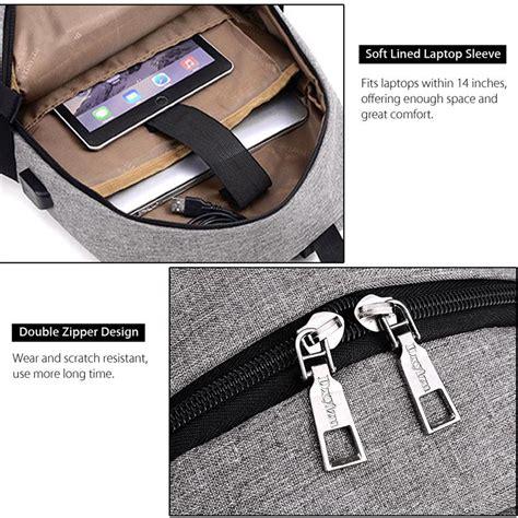 Hls Tigernu Tas Ransel Laptop Dengan Usb Charger dxyizu tas ransel dengan usb charger port black