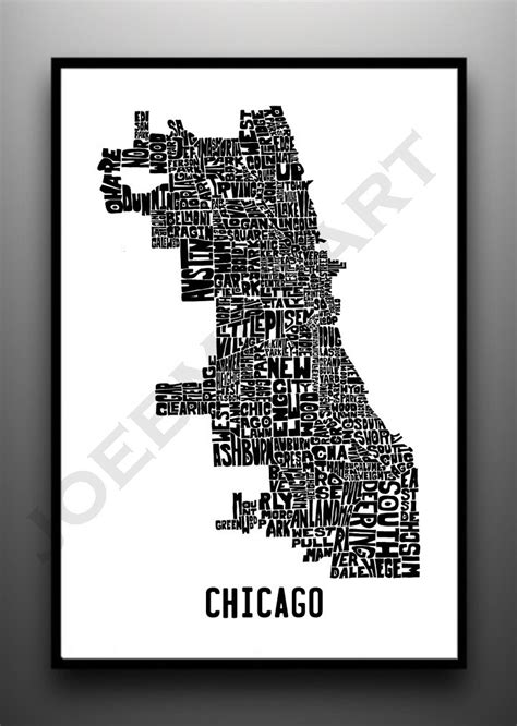 chicago neighborhood map poster 1000 images about map on map crafts