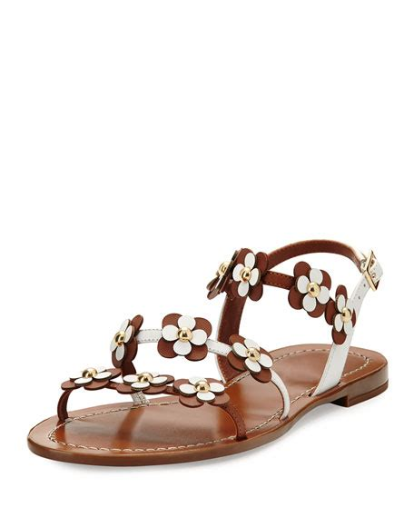 Genevieve Sandals By Kate Spade by Kate Spade New York Colorado Floral Leather Flat Sandal