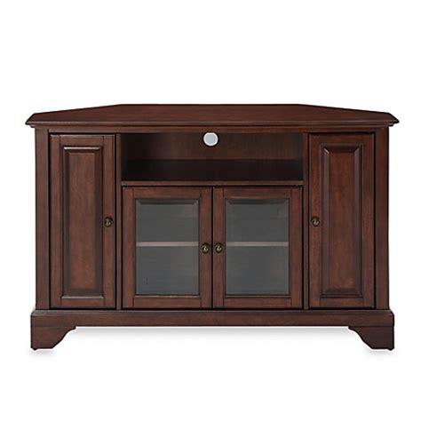 bed bath and beyond lafayette la buy crosley lafayette 48 inch corner tv stand in mahogany