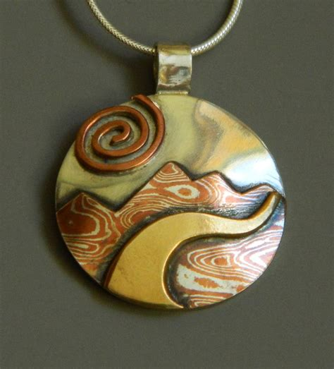 Landscape Jewelry 1000 Images About Mixed Metal Landscape Jewelry On