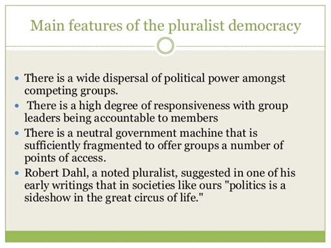 pluralism and liberal democracy theories of democracy