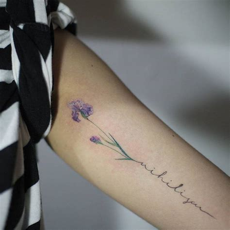 black iris tattoo 22 grandiose iris designs and meanings