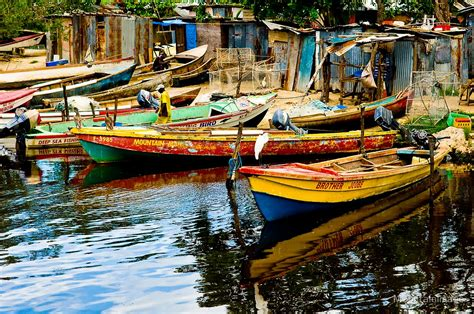 jamaica fishing boat quot jamaican fishing boats quot by mountainimage redbubble