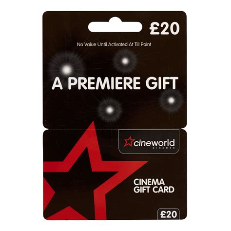 Cineworld Gift Cards - cineworld 163 20 gift card at wilko com