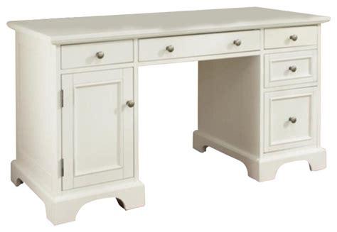 home styles naples pedestal desk white finish