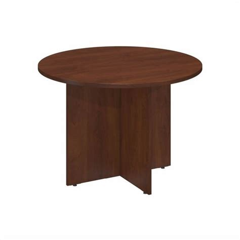 Cherry Conference Table Bush Business 42 Quot Conference Table In Hansen Cherry 99tb42rhc