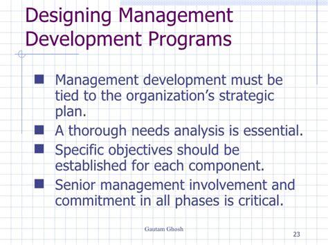 design management development programme management development
