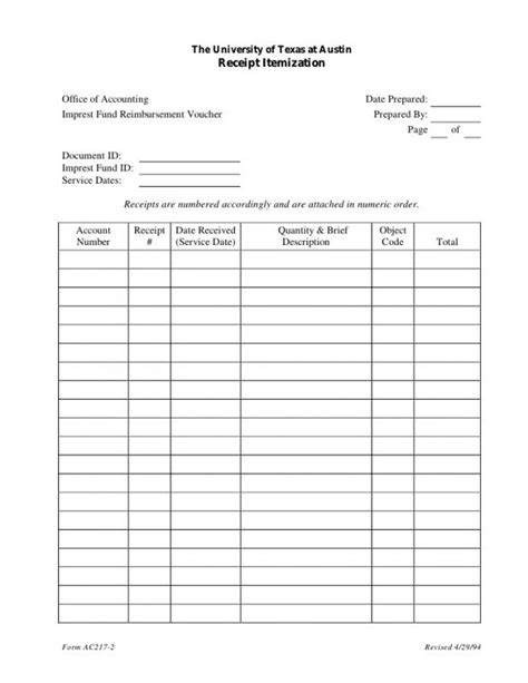 Receipt Log Template Excel by Receipt Template Excel Template Business
